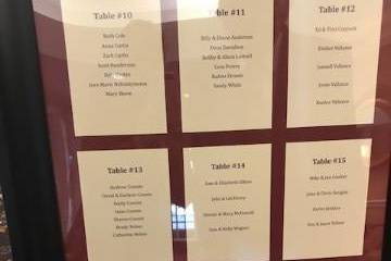 Table Seating Chart Idea