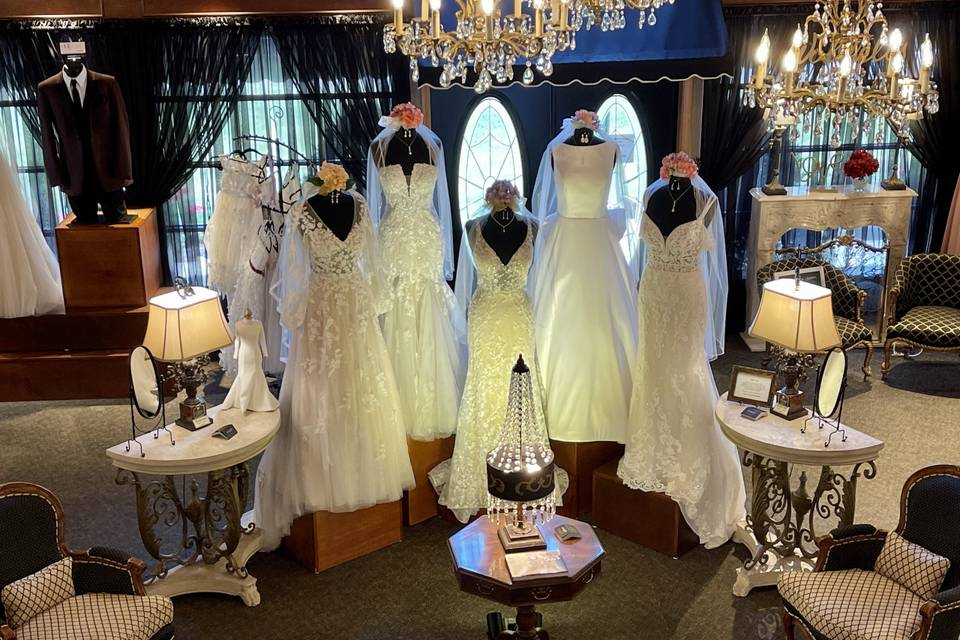 Selection of gowns
