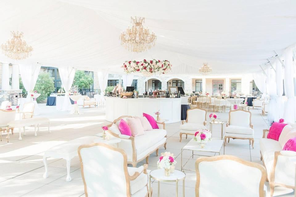 A white reception