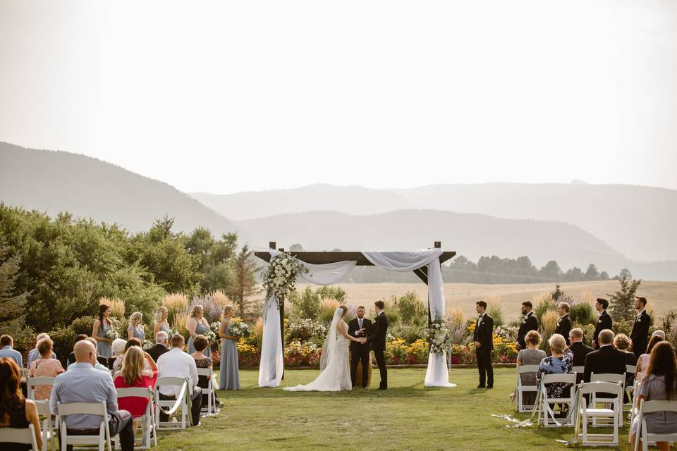 Ceremony on Mountain View Lawn