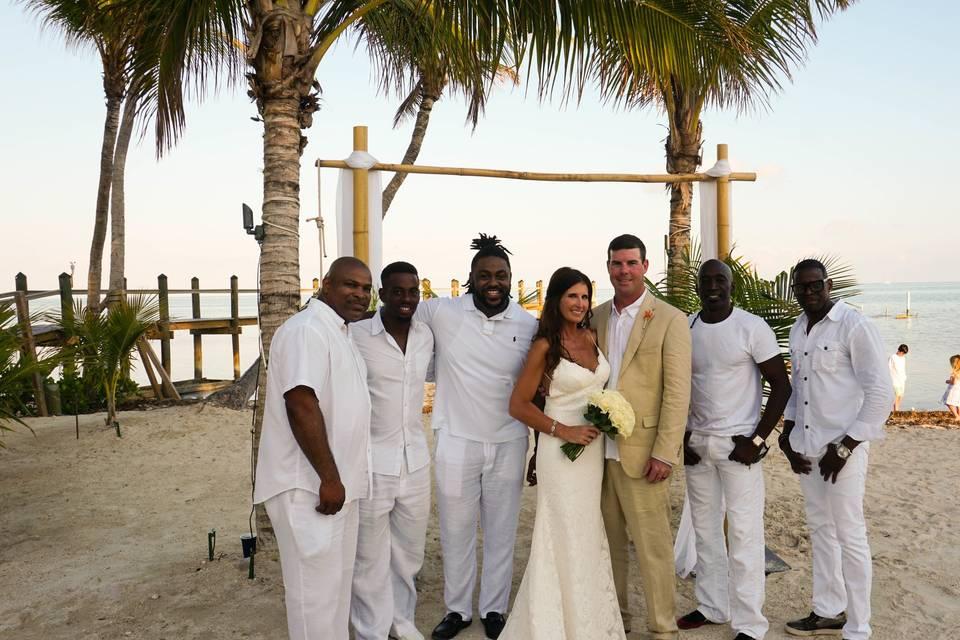 Couple with the wedding band