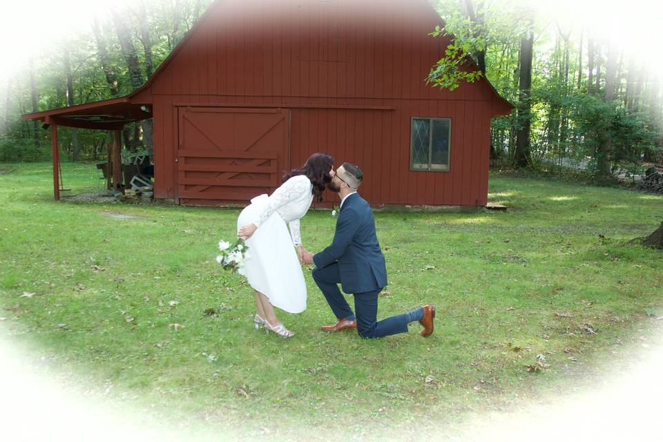 Down on one knee