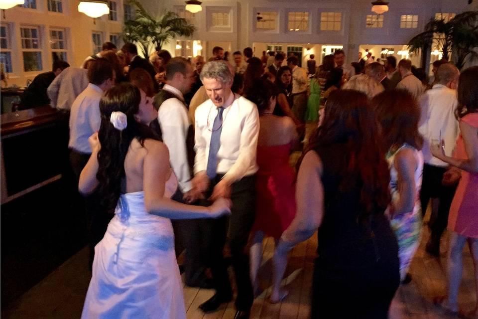 Loving newlyweds dance the night away