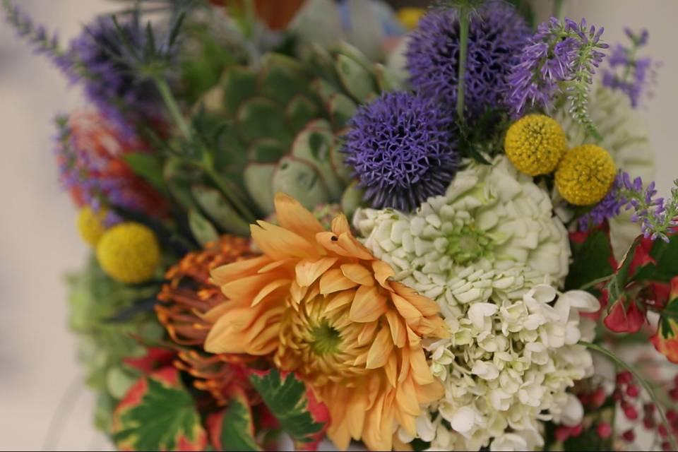 Bouquet close up - Mountain Mint Films
