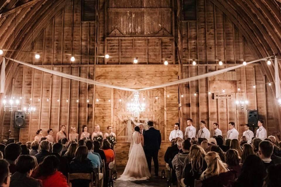 Indoor November Wedding