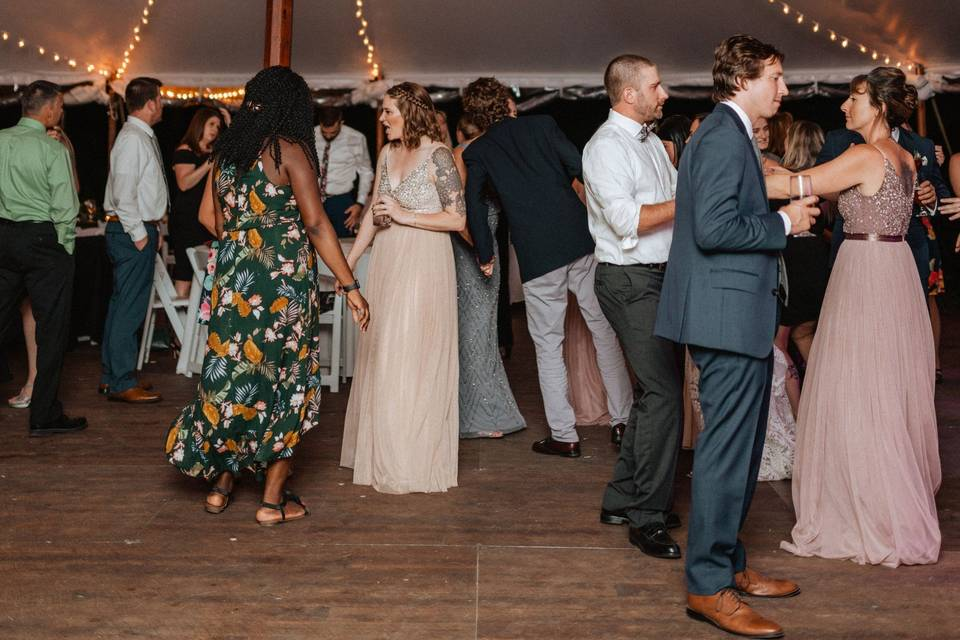 Revelers fill the dance floor