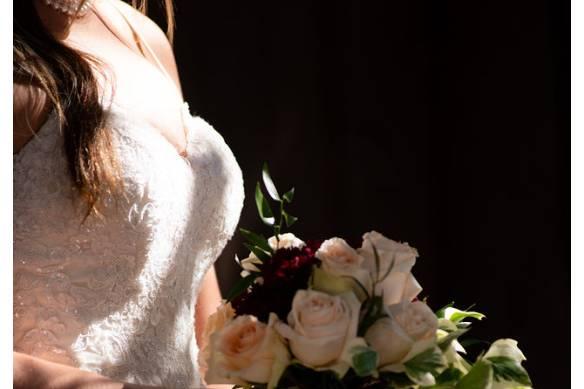Custom ivy bridal bouquet