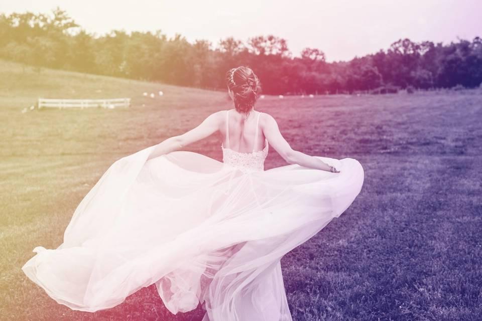 The dazzling bride