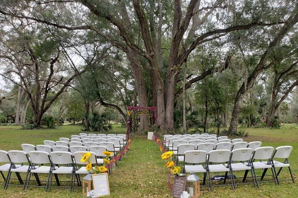 A popular ceremony spot