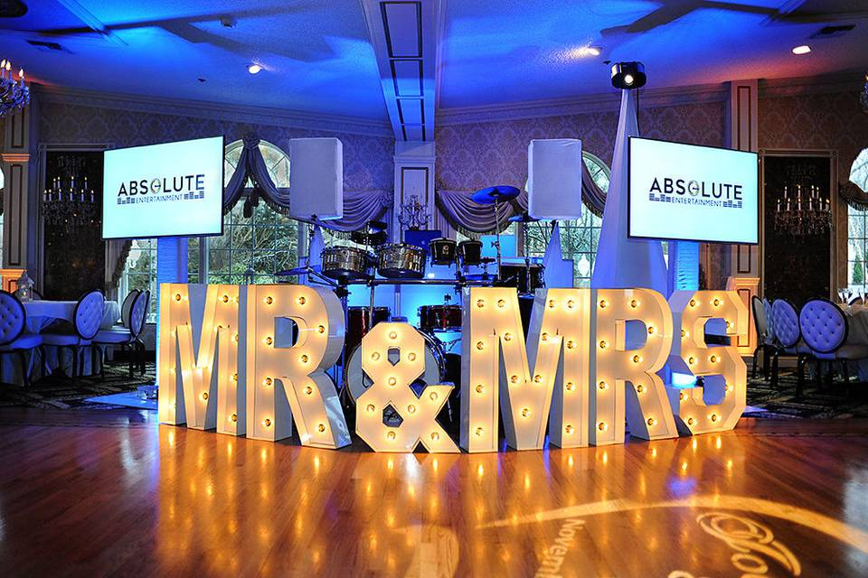 Marquee MR & MRS Letters