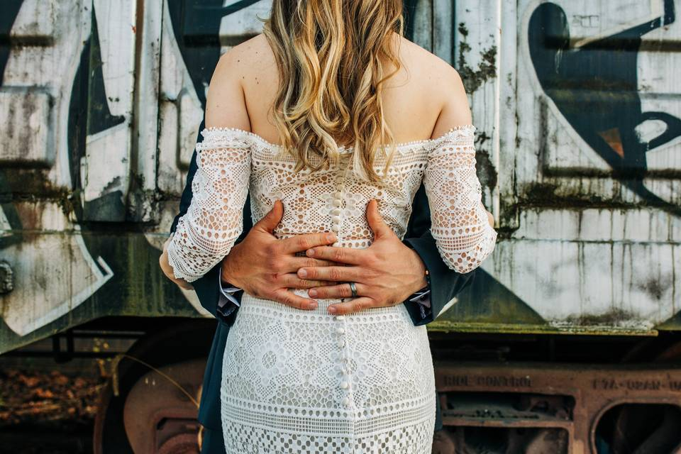 Breathtaking gown details