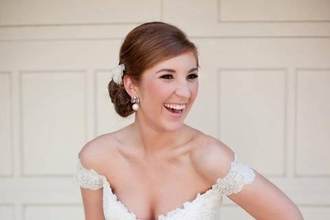 Happy bride - Jenn Hopkins Photography