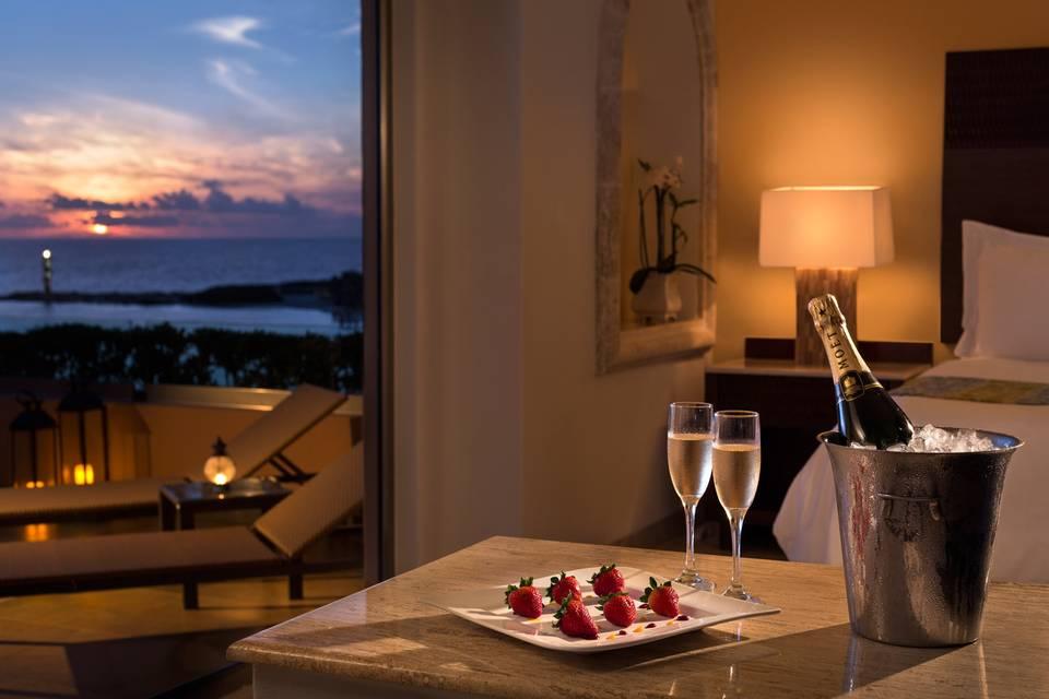 Romantic evenings at sunset