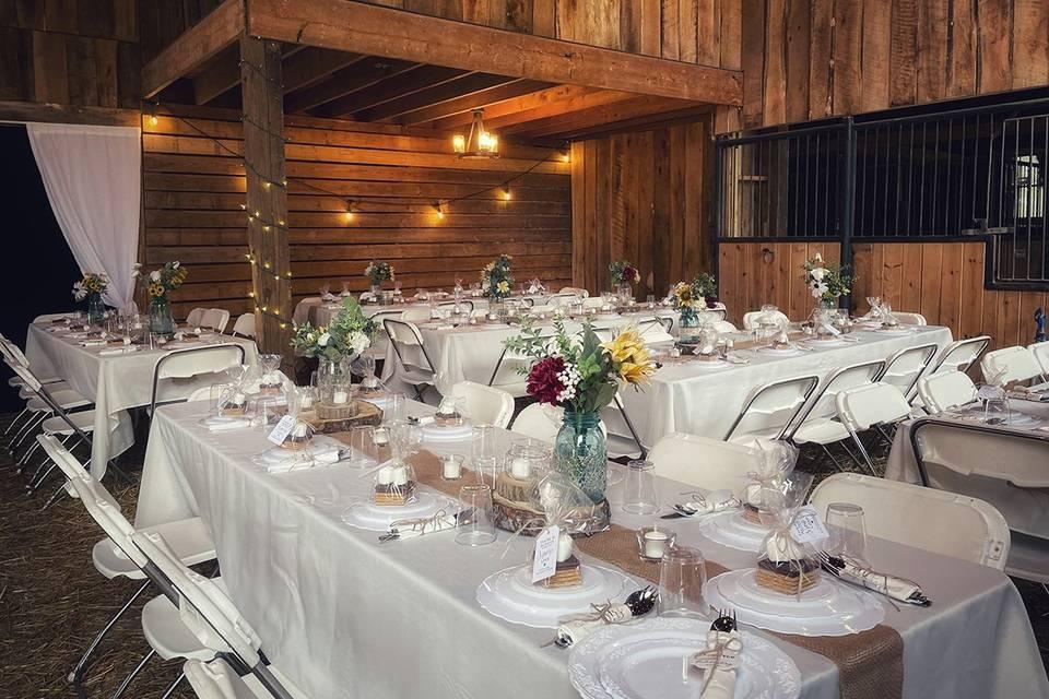Indoor barn venue