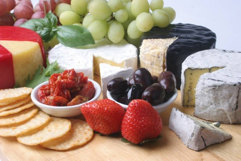 Fruit and cheese