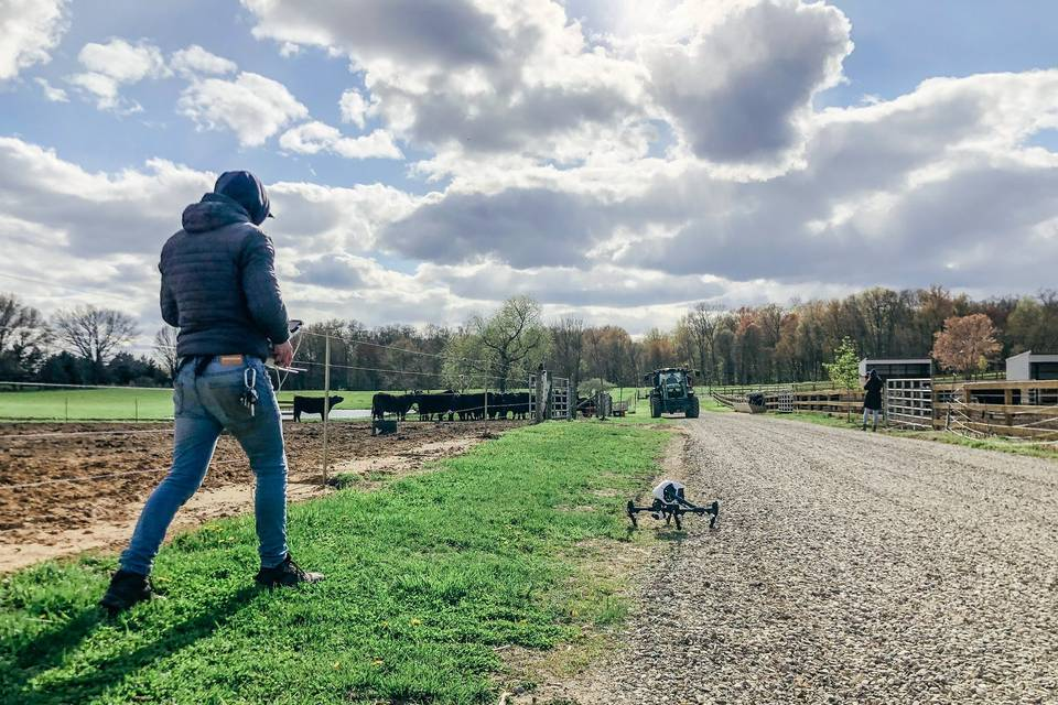Capturing landscape via drone