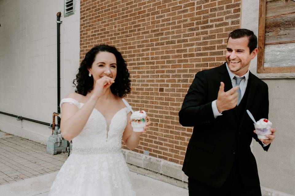 Nicole & Steve at Bridge.