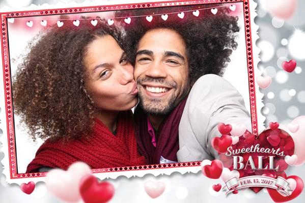 Rosy romantic hearts backdrop
