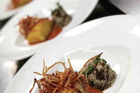 Plated Indian cuisine