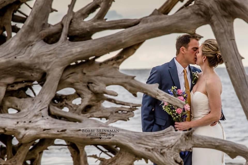 Driftwood Beach ceremony