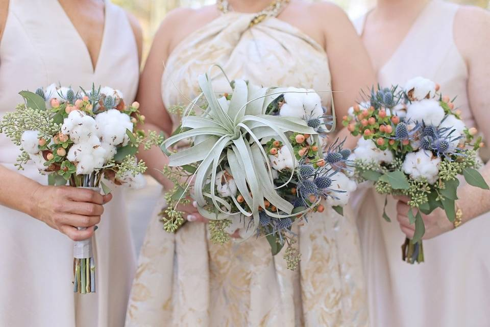 Holding bouquets