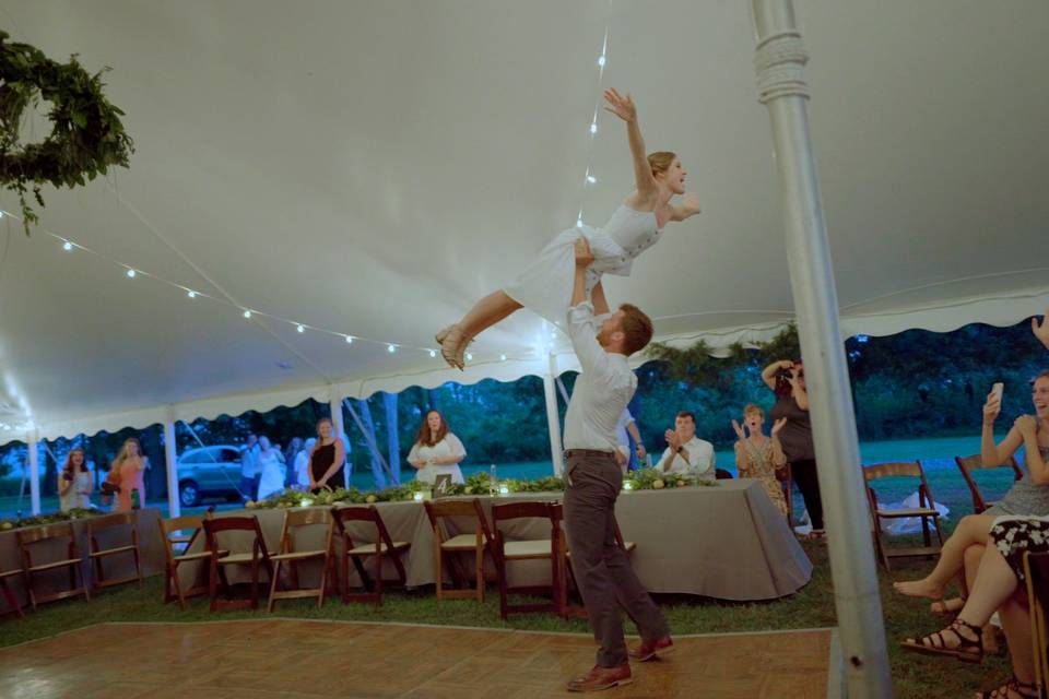 Ellie & Evan celebrating