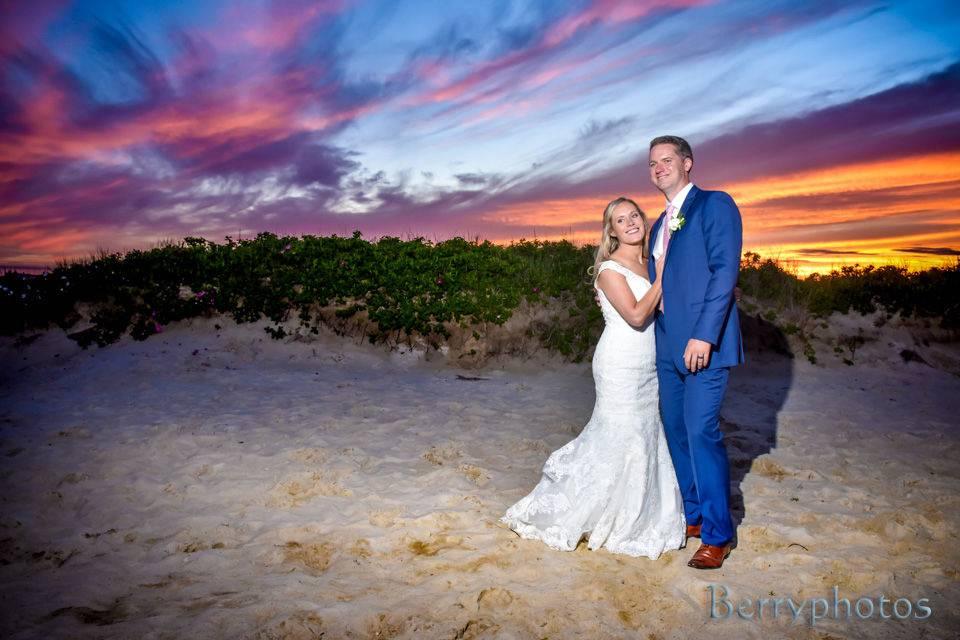 Sunset on the beach - Berryphotos