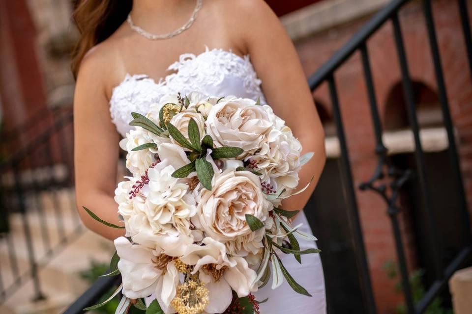 Tuscan Lace Bridal Bouquet