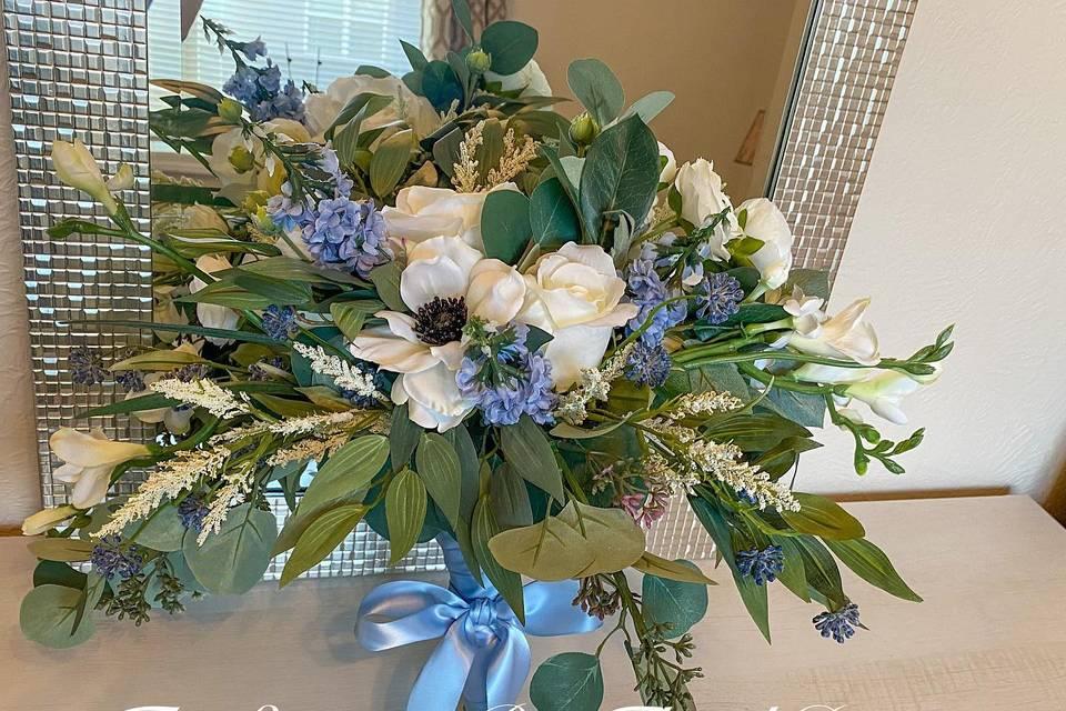 Dusty Blue Bridal Bouquet