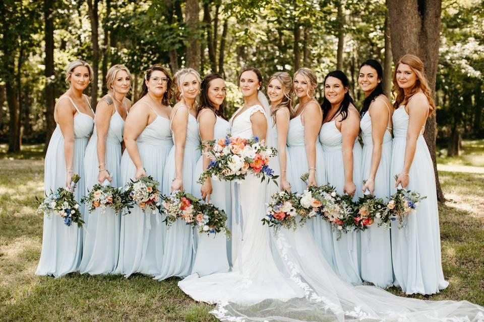 Bridal Party at Mount Hope Far
