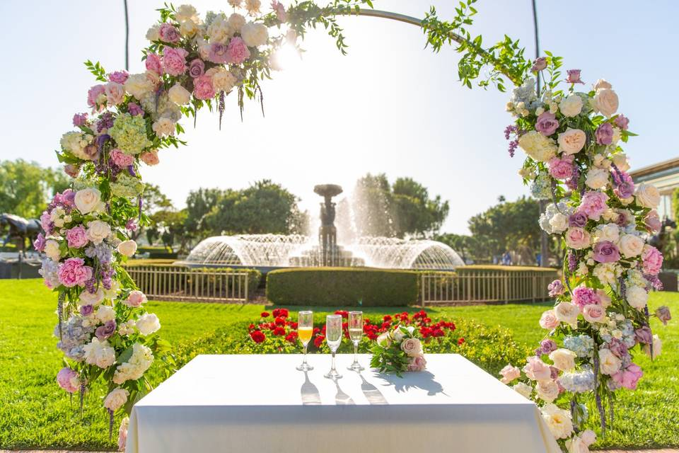 Kingsbury Fountain ceremony