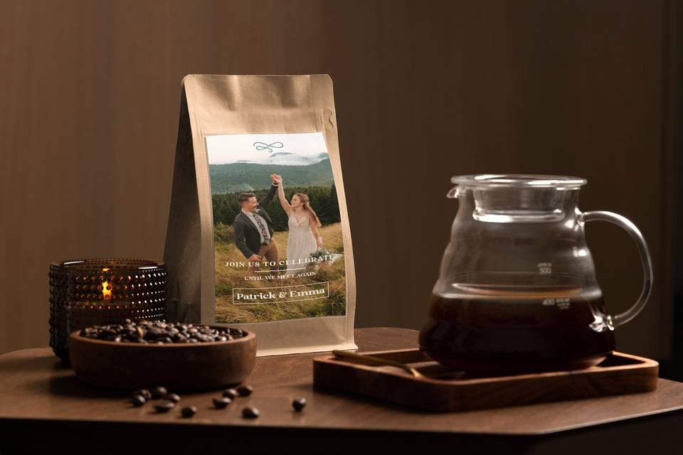 Custom hand roasted coffee