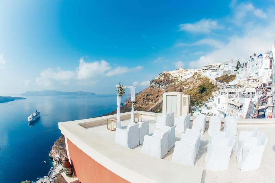 Rooftop wedding venue