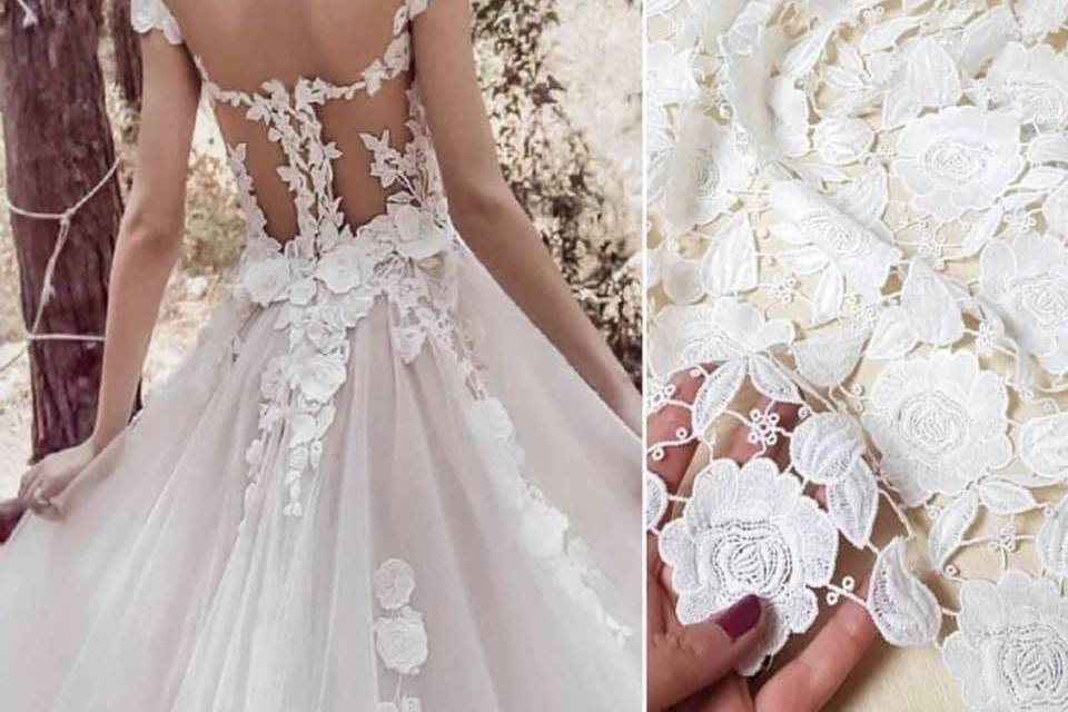 Lace detail added