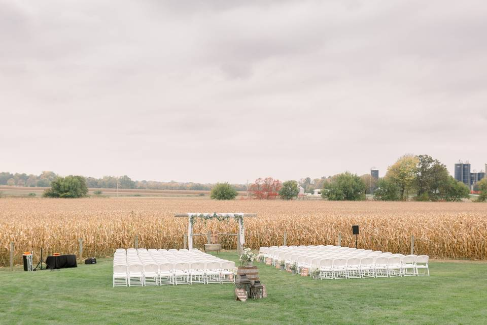 Ceremony before a field