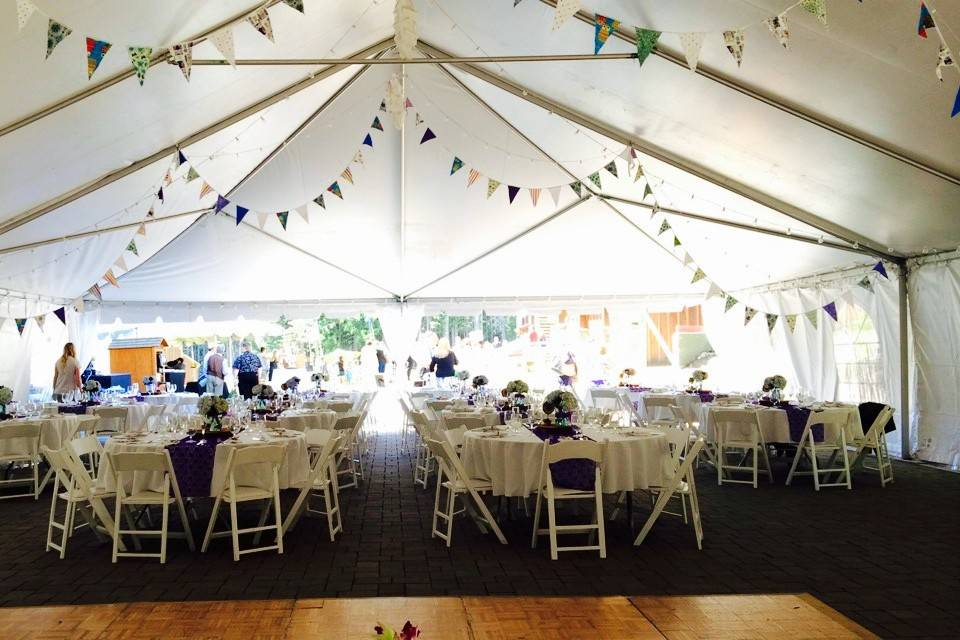A tented reception