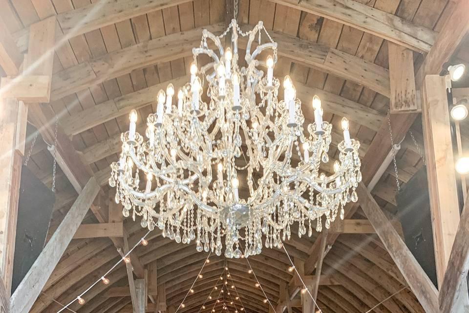 Dazzling chandelier
