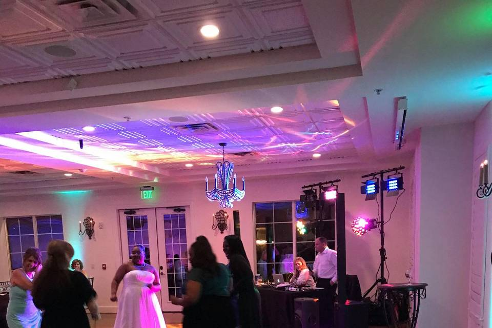 Bride dancing to the music!