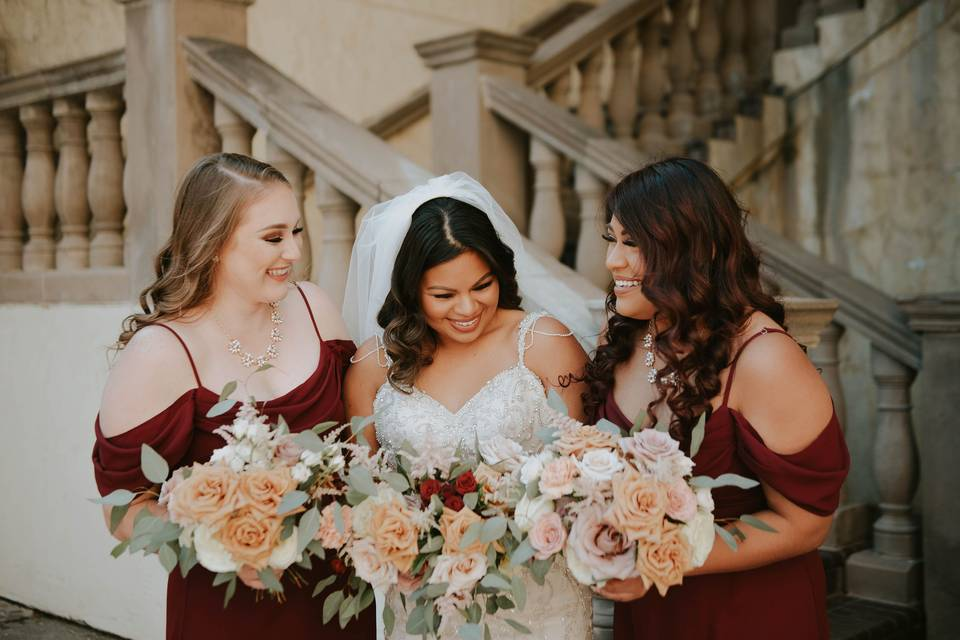 Smiles and bouquets