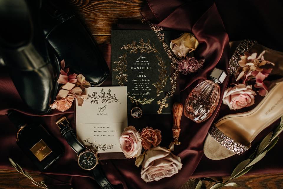 Seasonal wedding details