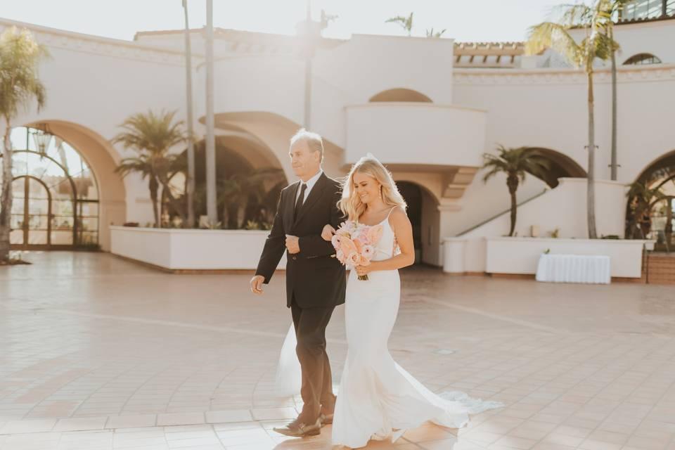 Tropical California Wedding