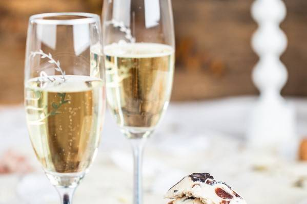 Champagne and ice cream