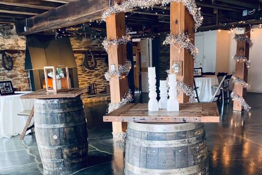 Whiskey Barrel Cocktail tables
