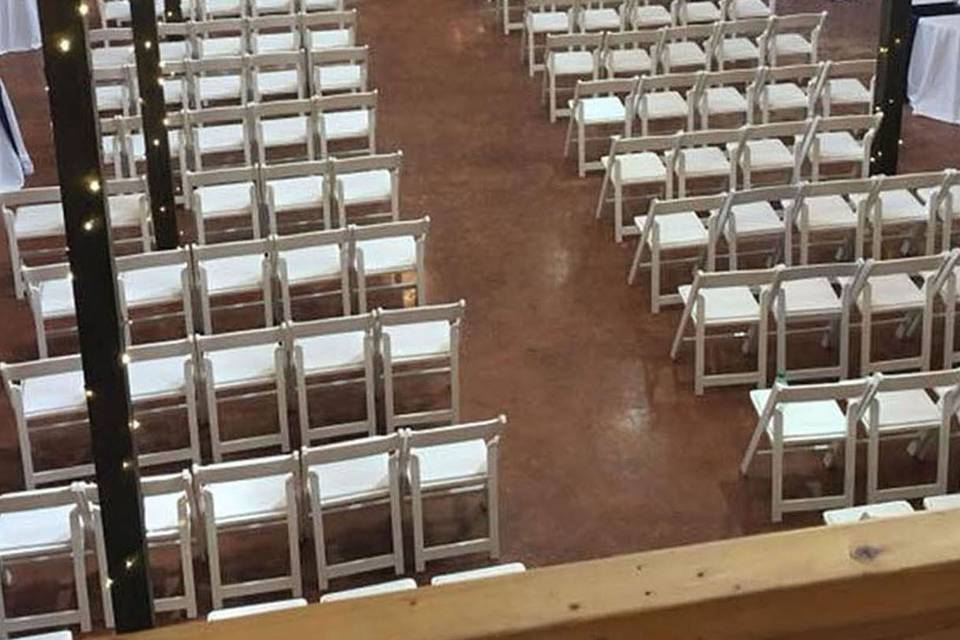 Indoor Ceremony with Tables