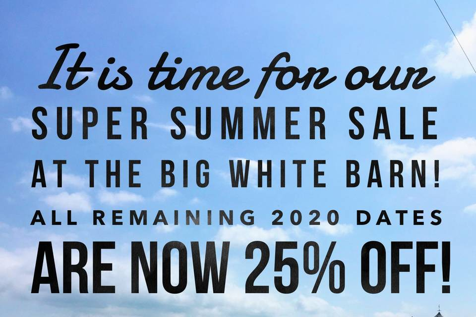 Summer Sale Happening Now!