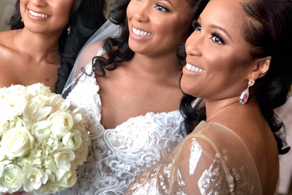 Bride, Maid of Honor, and Mother of the Bride