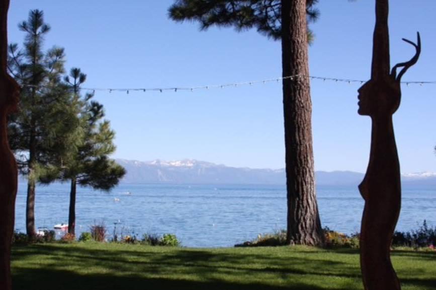 Private lakeshore venue with views