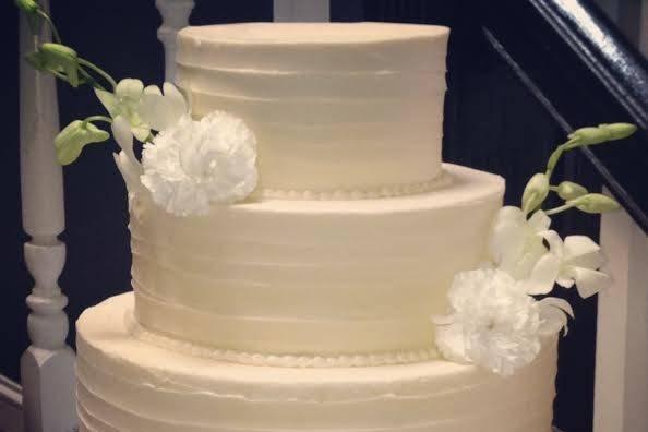 Three tiered cake