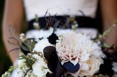 Touch of black bridal