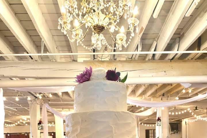 3 tier rustic elegant floral